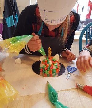 eenhoorn taart feestje